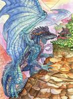 Chuck's Dragon -- Big Blue by caramitten