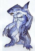 Sharkman by caramitten