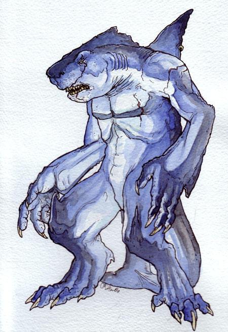 Sharkman art - photo#13