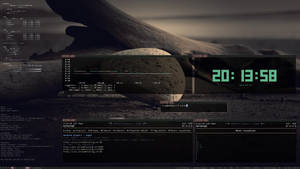 debidwm zenburn desktop conky
