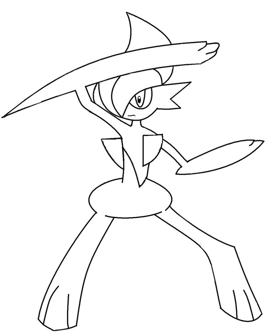 gallade coloring pages - photo#1