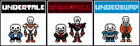[Fanmade] Sans and Papyrus AU Sprites REVAMP (V1)
