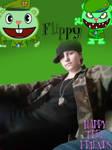 Happy Tree Friends Flippy Cosplay  by BlueShinyYveltal