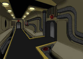 Sci-Fi Corridor by JokerSushi