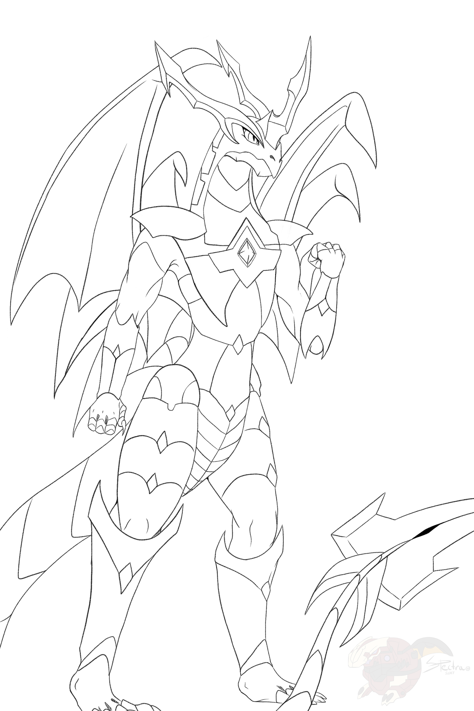 Bakugan coloring page / Dragonoid by Spectra48 on DeviantArt