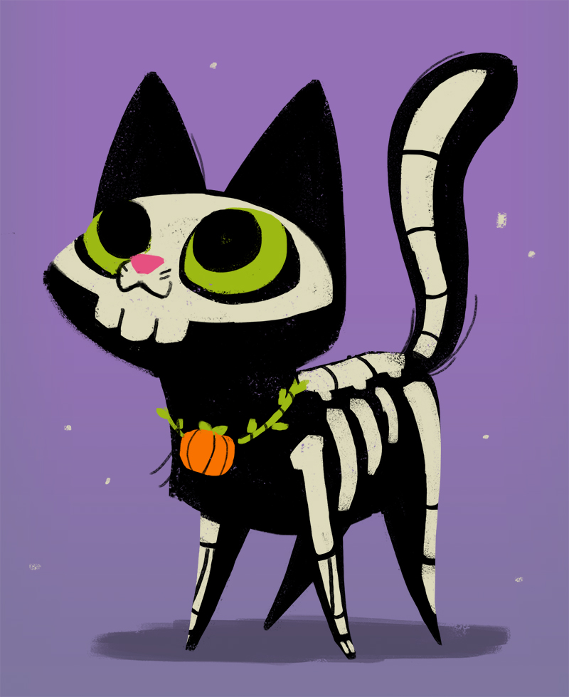 311: Skeleton Cat by EveryDayCat on DeviantArt