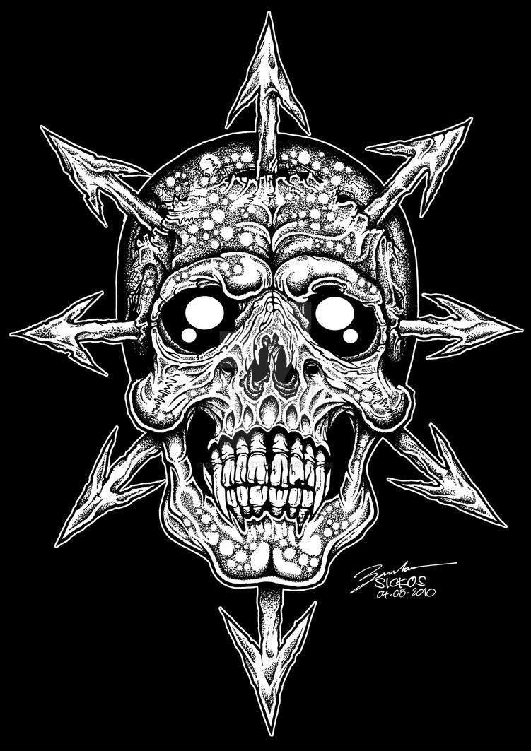 chaos skull by gorillarium on DeviantArt