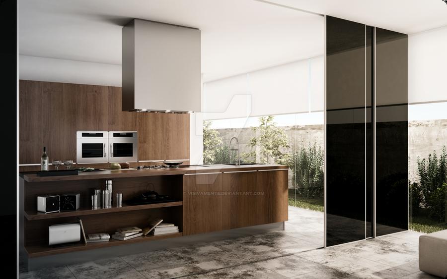 Signorini's Villa - modern kitchen by visivamente