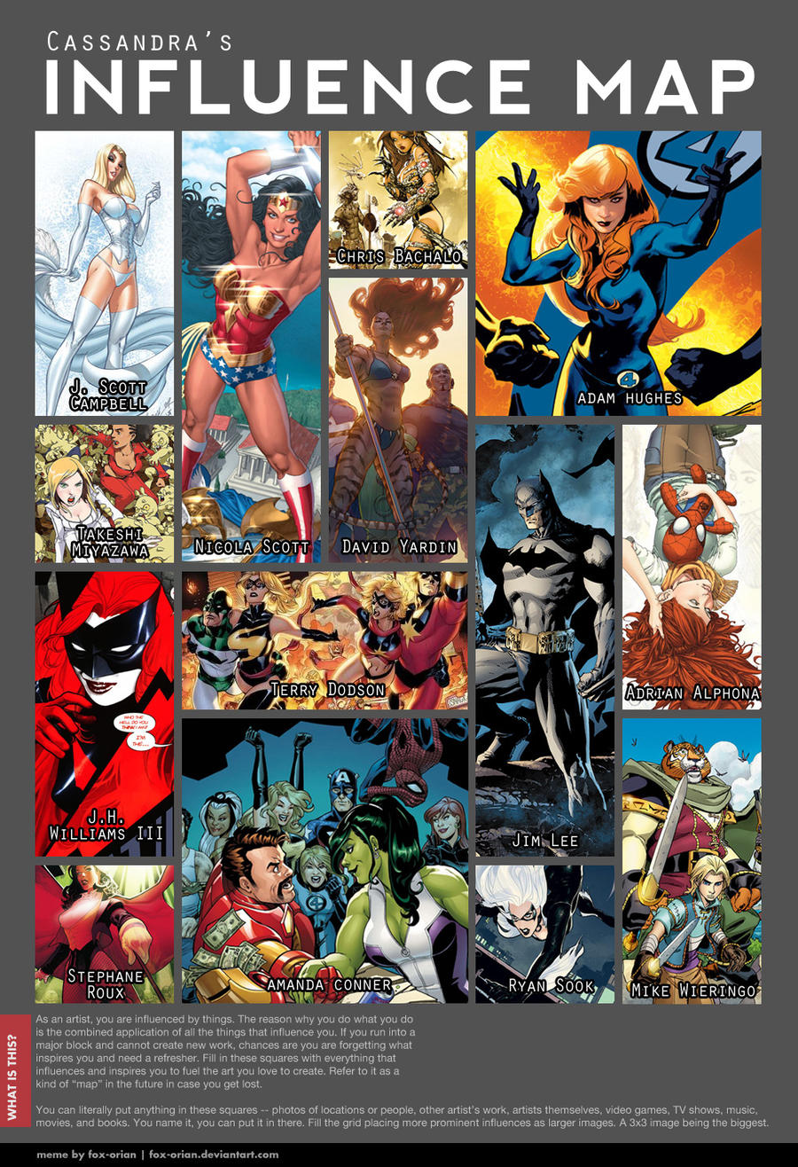 my Influence map by CassandraJames