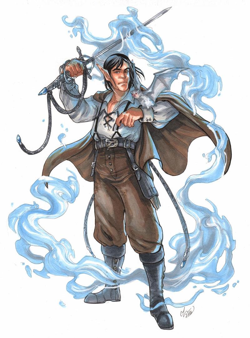 elven swordmage by CassandraJames