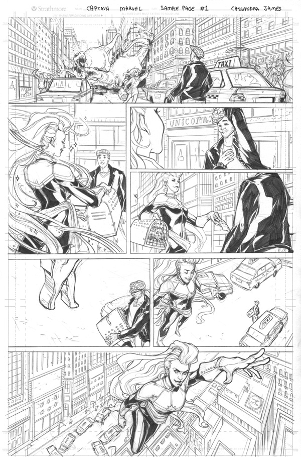 Captain Marvel page 1 by CassandraJames