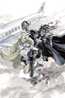 Peej and Huntress pre Con sketch by CassandraJames