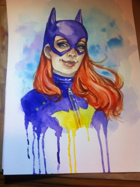 Batgirl watercolour by CassandraJames