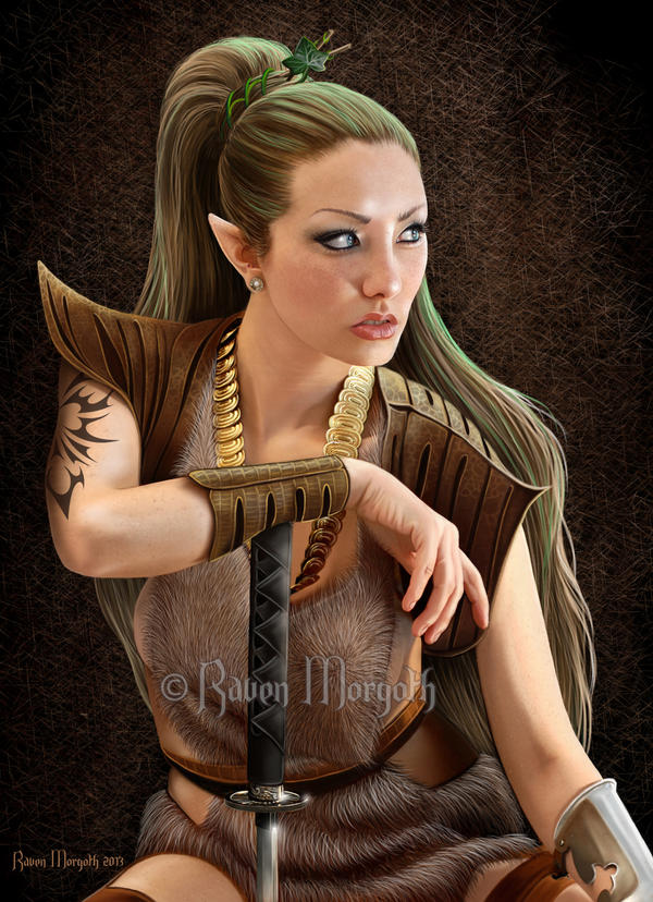 Hayashi Warrior Elf by RavenMorgoth