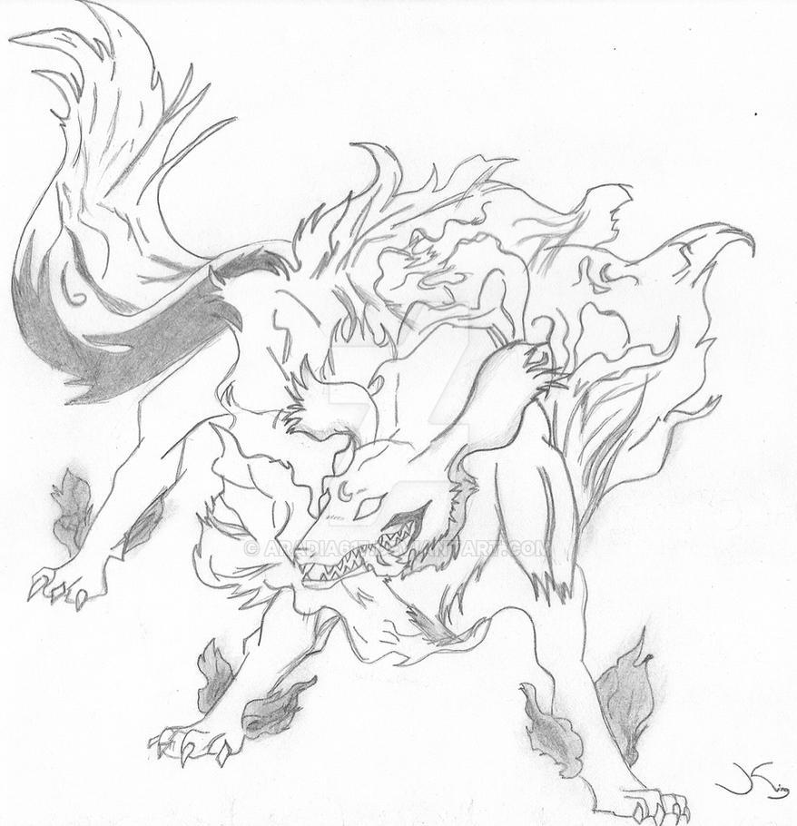 Sesshomaru's Dog Demon Form by Aradia617 on DeviantArt