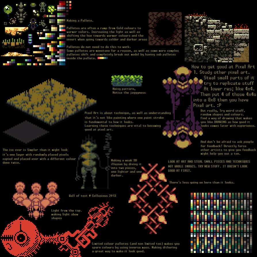 pixel art tutorial by cellusious on deviantart
