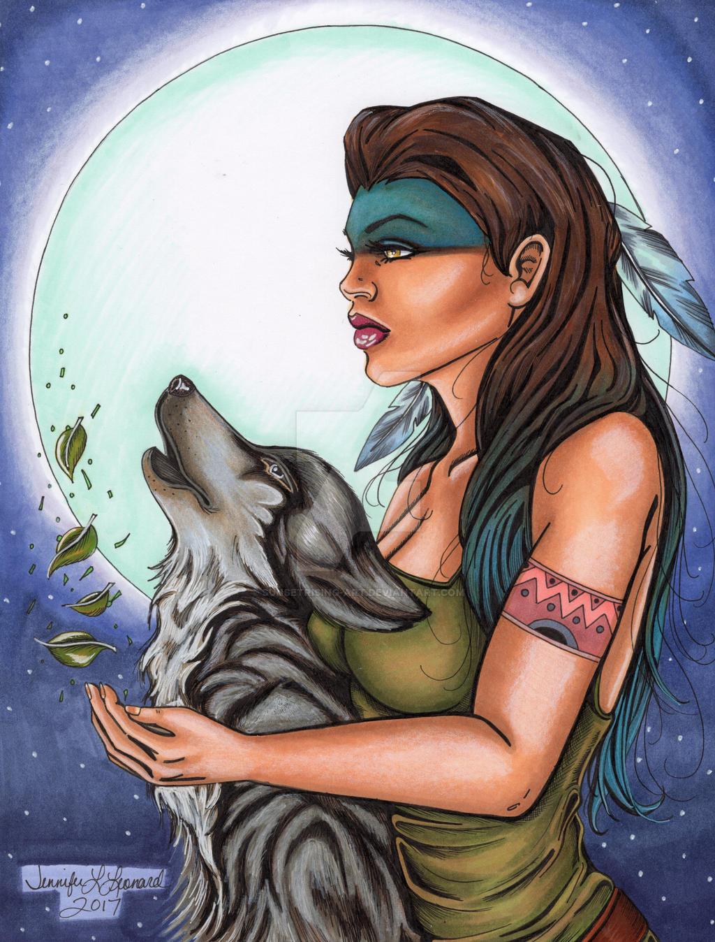 Wolfcry / Blue Bird by SunsetRising-Art