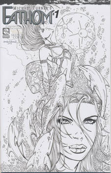 Fathom Vol. 7 #1 Sketch Cover Completed