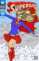 Supergirl Sketch Cover by SunsetRising-Art