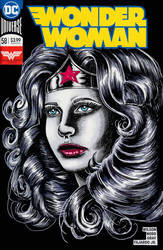 Wonder Woman Sketch Cover  by SunsetRising-Art