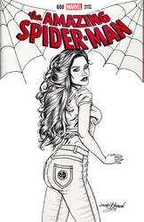 Amazing Spiderman 800 Mary Jane Watson by SunsetRising-Art