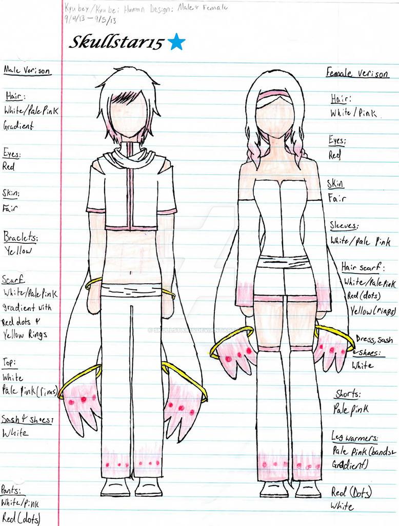 Kyubey Male/Female Dsign sheet by skullstar15 on DeviantArt