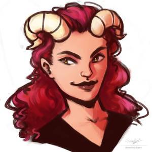 Girl w horns