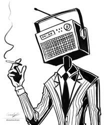 Inktober: Day 4 - radio