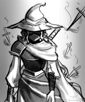 Inktober: Day 8 - witch