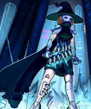 Cyberpunk character design: Splash-art
