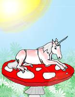 Sunburnt Unicorn by DirtyZephyrAssassin