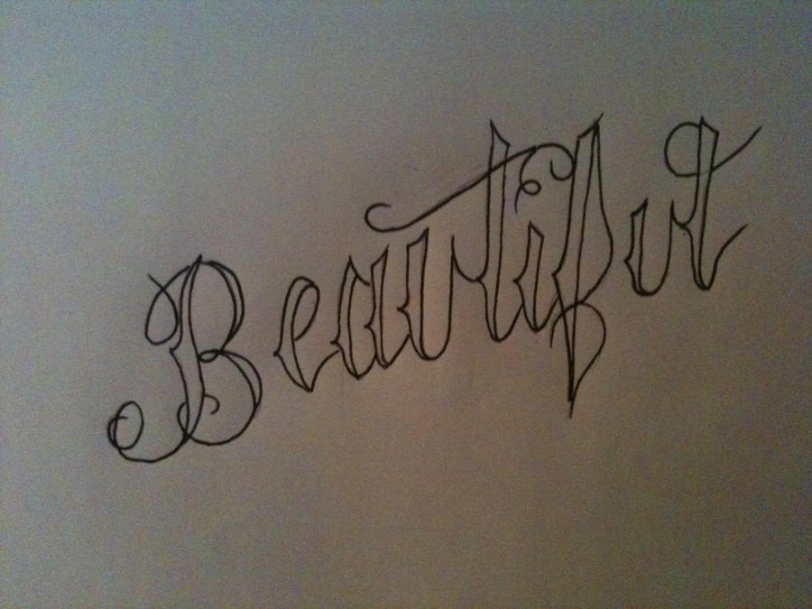 Beautiful Cursive By RhinoGreymist