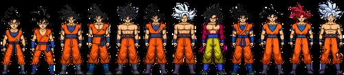 Micro Progression: Goku by xplayermk