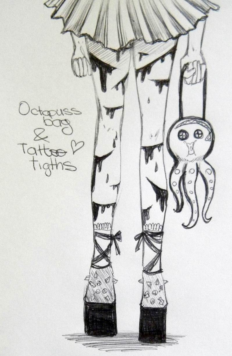 Octopuss Bag and Scary Tattoo tights