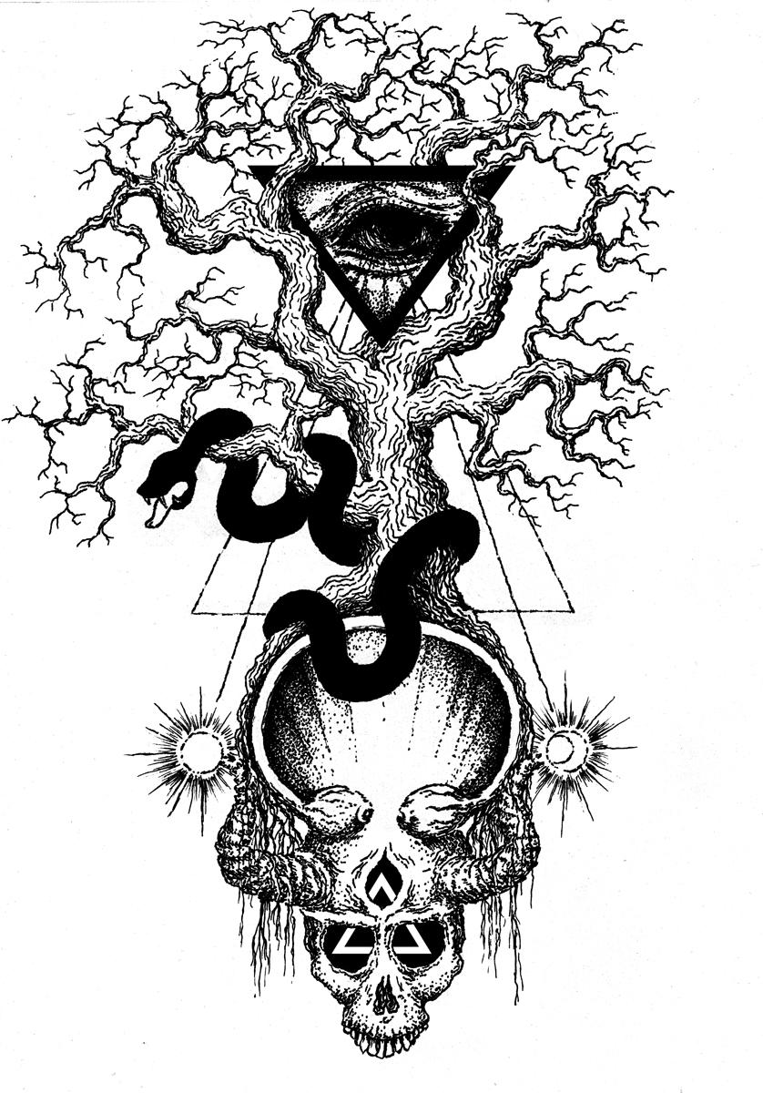 Erkenntniss Tattooentwurf by Frostklinge