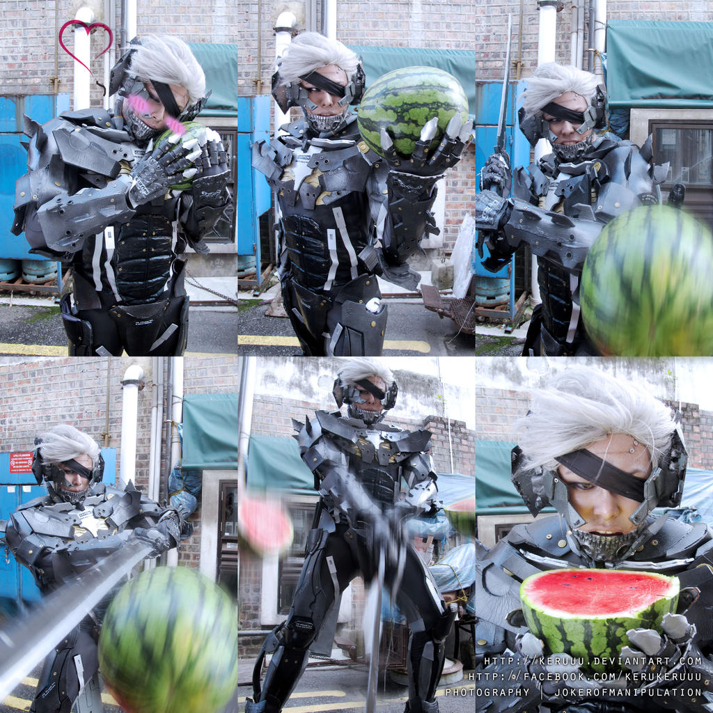 Raiden Loves Watermelons by keruuu
