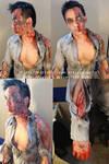 'Burnt' Zombie Makeup