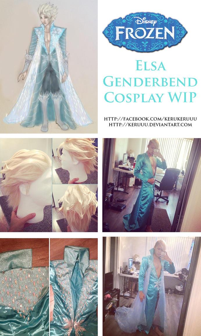 Genderbend Elsa Cosplay WIP by keruuu