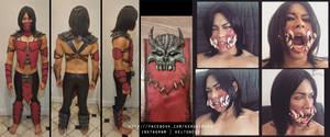 Mortal Kombat X Mileena Genderbend Cosplay WIP