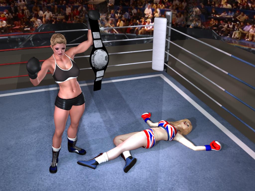 Rayne Holds the UK Foxy Boxing Championship Belt