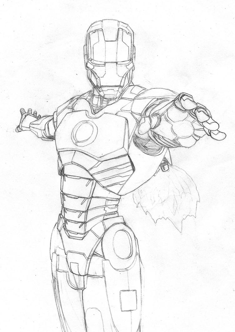 Iron man pencils by benhydra on DeviantArt
