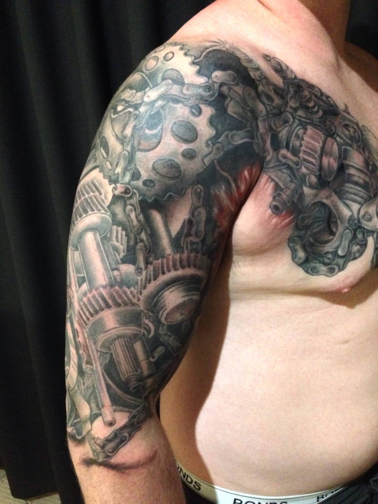 4b575a16c1073 Mechanical tattoo by skink28 on DeviantArt