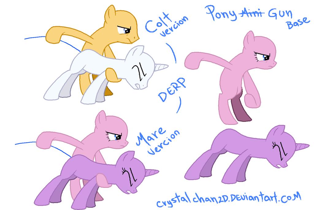 Mlp Base Pony Gun By Crystalchan2d On Deviantart