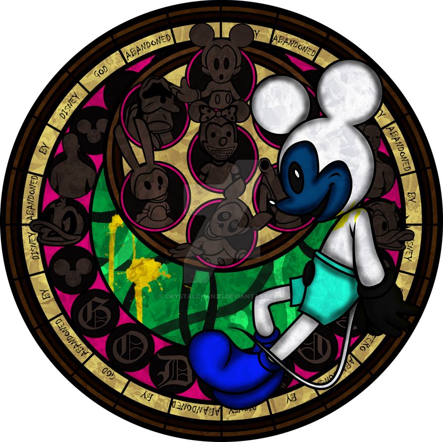 Fnati+KH: Abandoned By Disney Stained Glass By