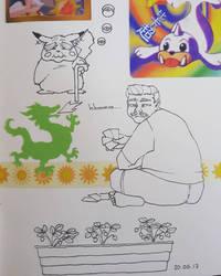 Vieux jeu, humanisation d'un chat by Valentynn