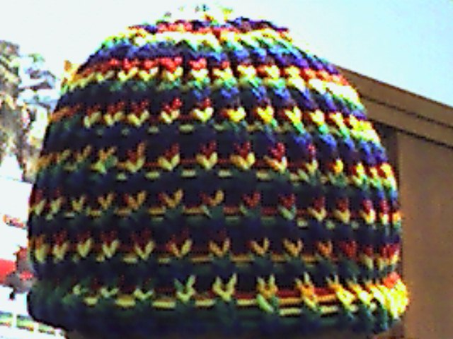 Rainbow Loom Knitting Patterns : rainbow loom knit hat by B00SE on DeviantArt