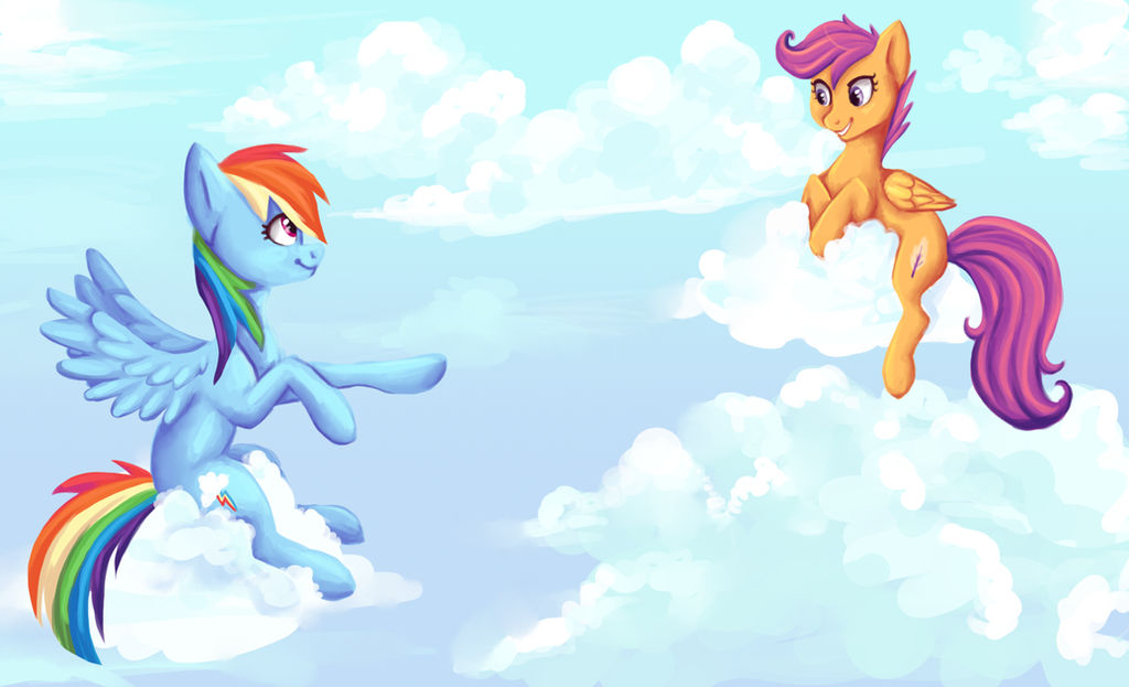 Fanart Rainbow Dash And Scootaloo By Voxame On Deviantart See over 27 scootaloo images on danbooru. fanart rainbow dash and scootaloo by