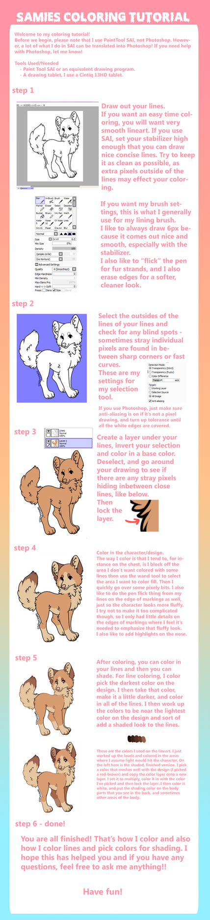 Samies Coloring Tutorial by voxame