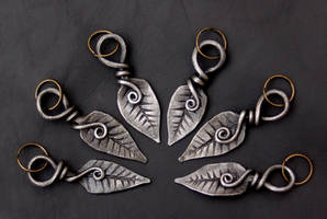 Hand Forged Blacksmith Leaf Keyrings