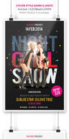 Night Girl Show Flyer Template by webduckdesign